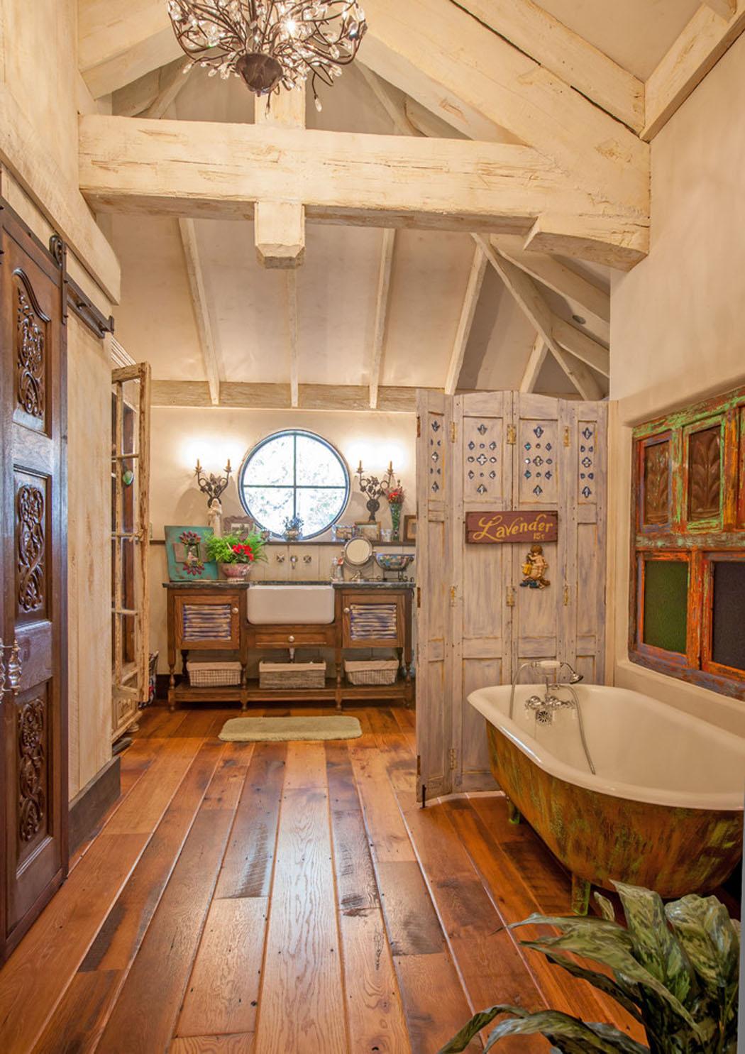 maison rustique l int rieur en bois et ambiance bien. Black Bedroom Furniture Sets. Home Design Ideas