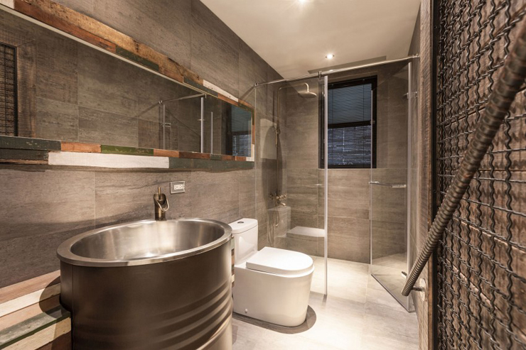 Awesome Salle De Bain Rustique Moderne Photos - Amazing House ...