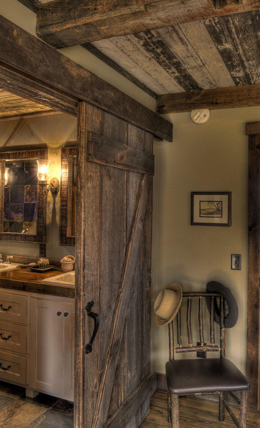 Salle de bain rustique moderne for Deco salle de bain rustique