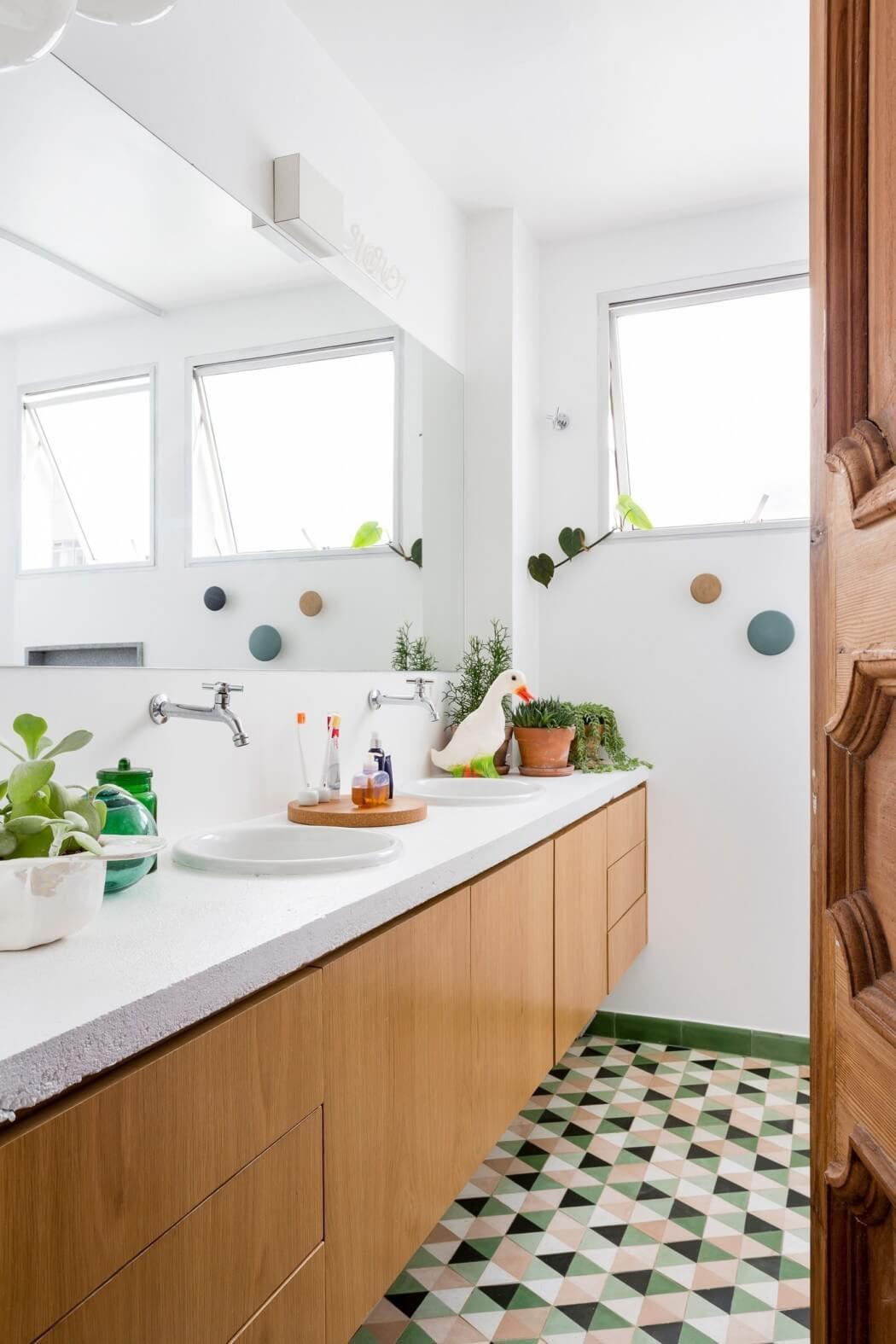 Un appartement convivial situ sao paolo au design for Amenagement salle de bain original