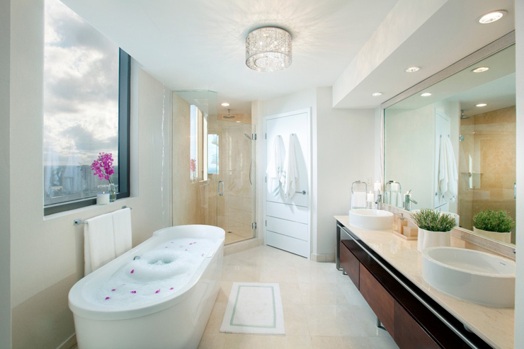 El gant appartement avec vue superbe sur l eau floride - Appartement luxe paris avec design sophistique et elegant ...