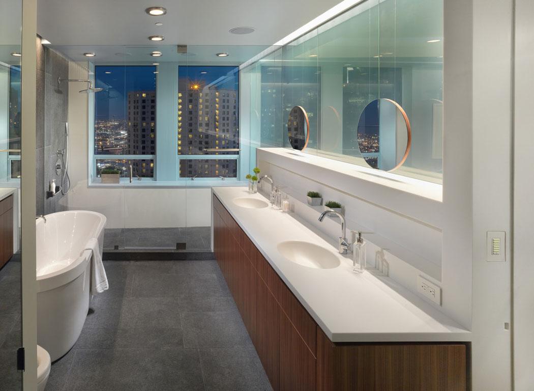 Ambiance accueillante l gante pour ce joli appartement for Salle de bain moderne design