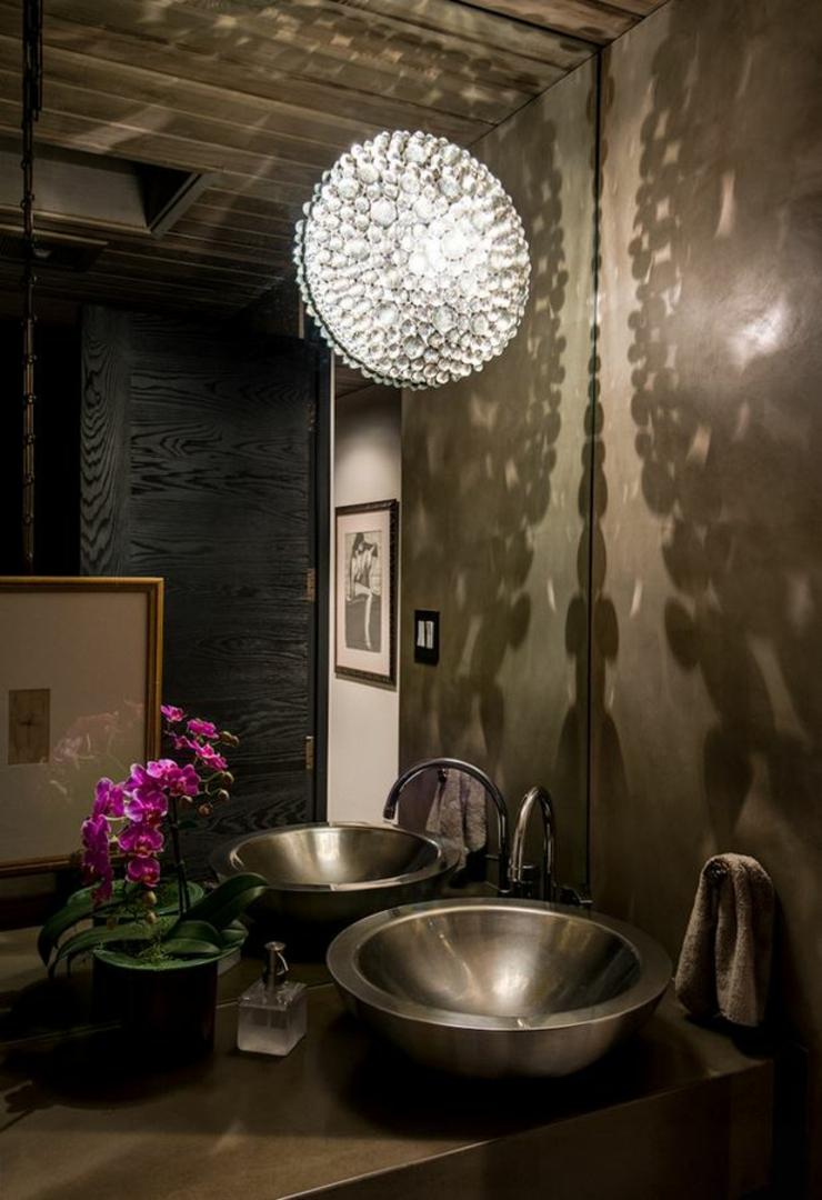 Marbre mural salle de bain: photo amenagement de salle bain avec ...