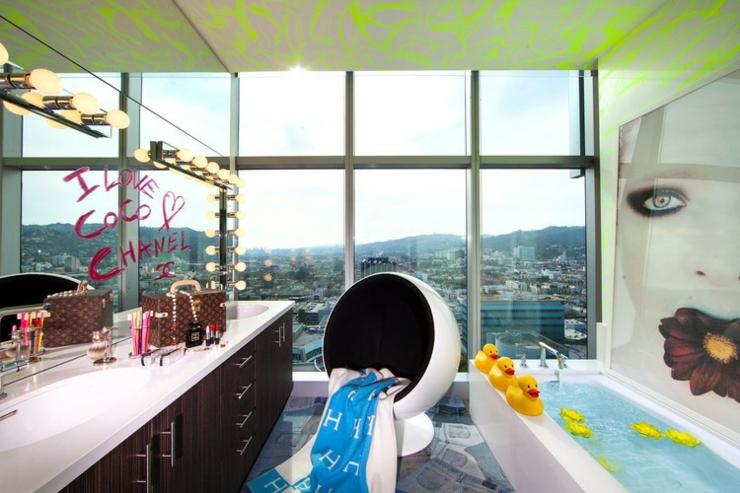 Appartement los angeles la d co design cr ative for Salle de bain pop