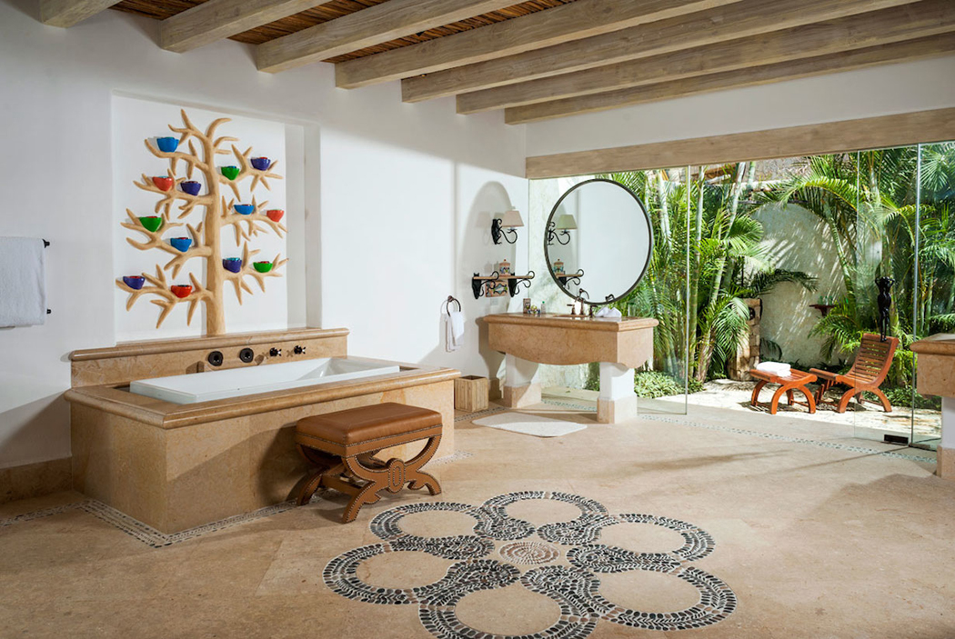 Magnifique villa de r ve los cabos complexe h telier - Salle de bain de luxe photo ...