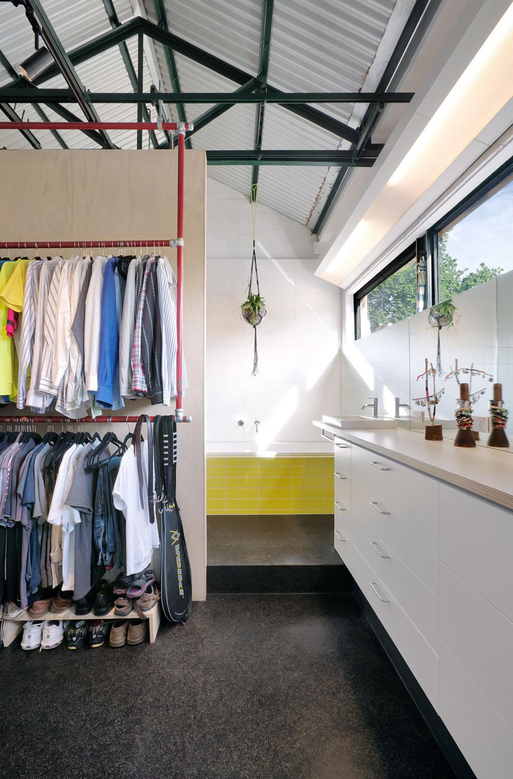 Salle de bain loft industriel gallery of dco loft for Salle bain industriel
