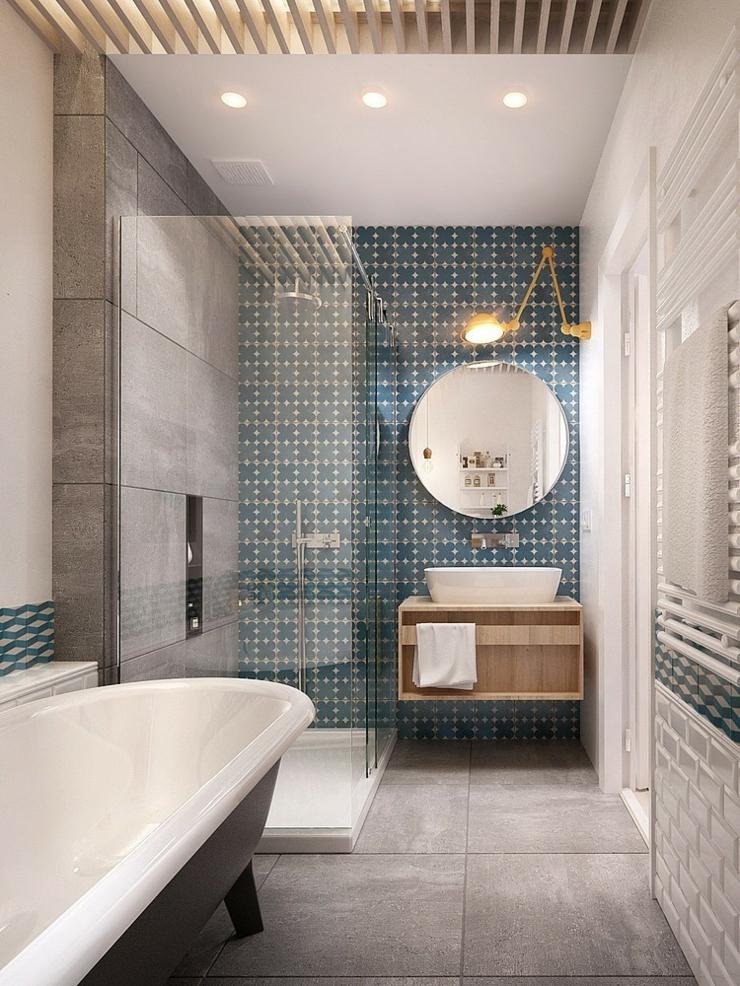 Appartement moderne aux faux airs d un loft vivons maison for Chambre de bain rustique