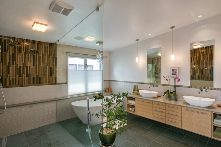 Maison de ville enti rement r nov e seattle vivons maison for Salle de bain moderne design