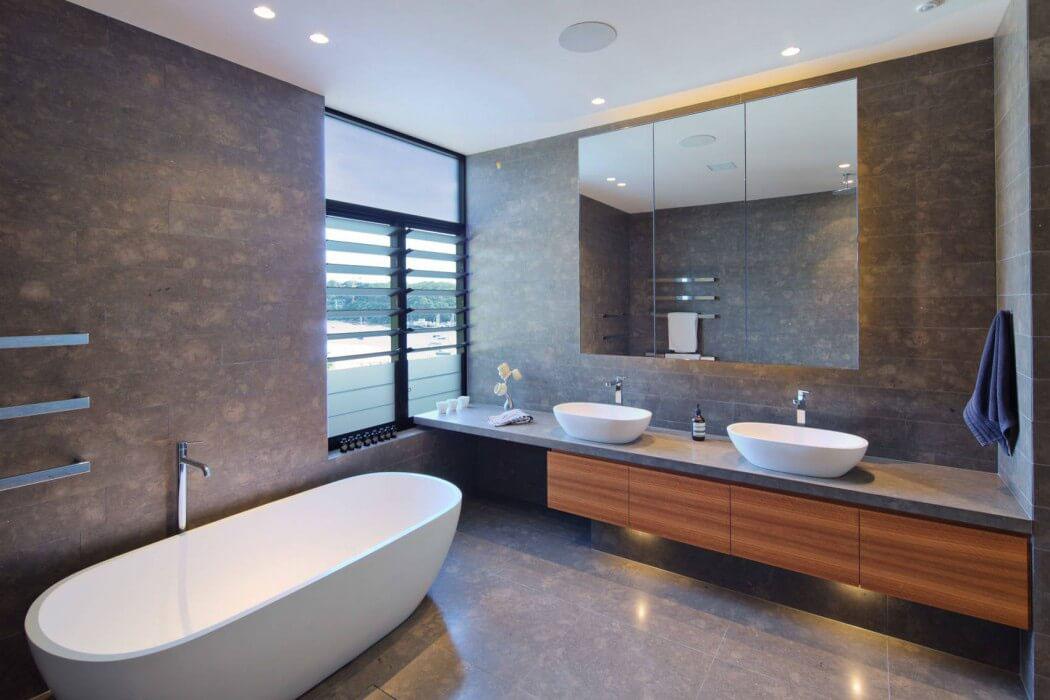 Moderne maison avec vue splendide au c ur de sydney for Design interieur salle de bain