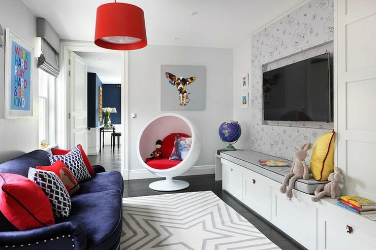 Belle maison l int rieur design so british vivons for Salon multimedia