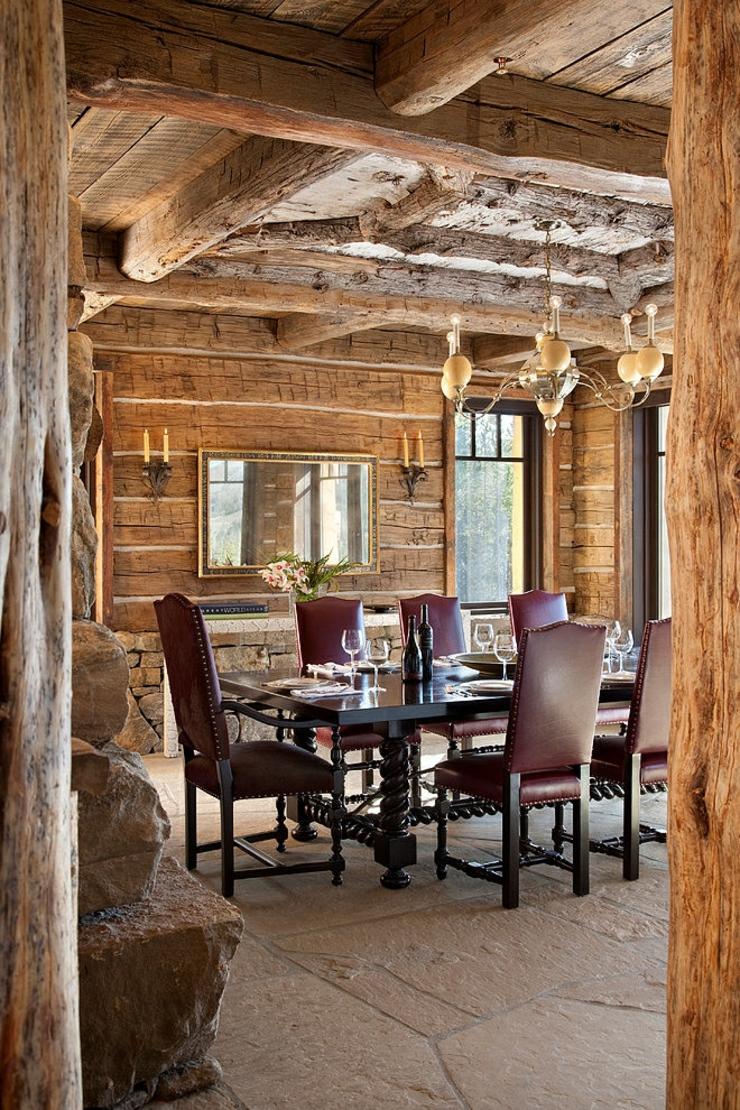 Belle maison de charme construite en bois vivons maison for Salle a manger de luxe en bois