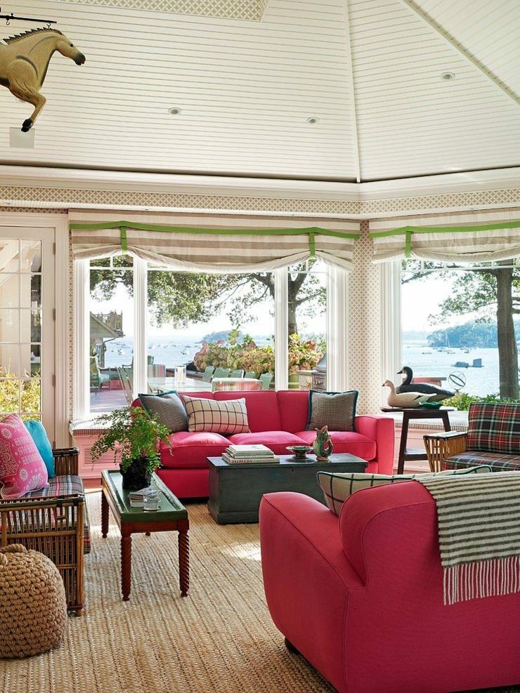 Maison de vacances la d co inspir e par la mer vivons for Deco salon couleur chaude