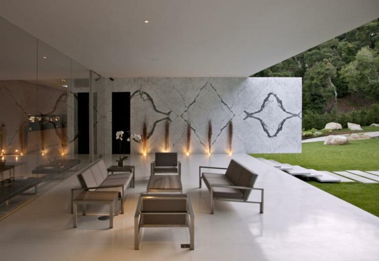 R sidence de luxe montecito santa barbara vivons maison - Salon de jardin couvert ...
