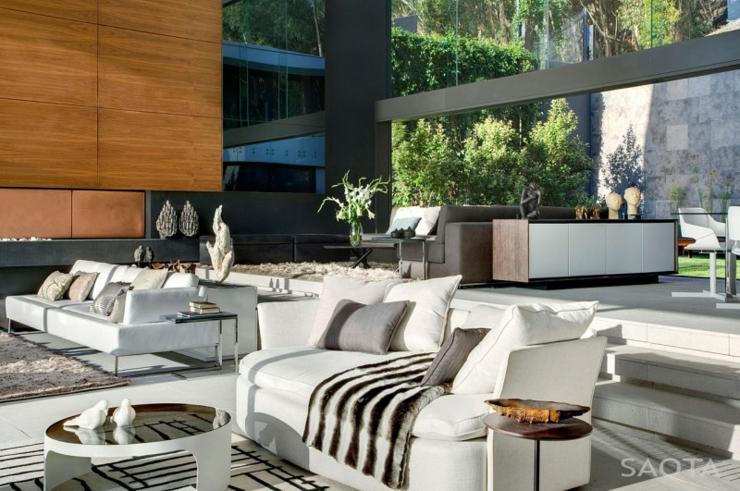 salon au mobilier moderne de cette belle demeure - Salon Ultra Moderne