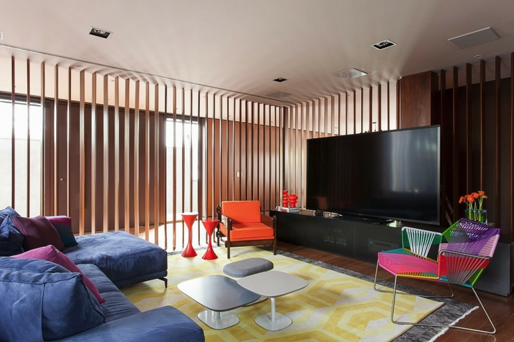Maison design moderne et original s o paulo vivons maison for Salon multimedia
