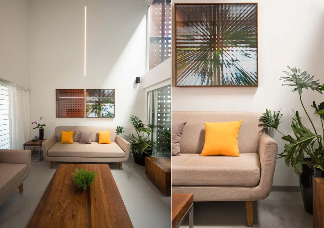 Maison familiale l agencement et architecture originale for Ameublement petit salon