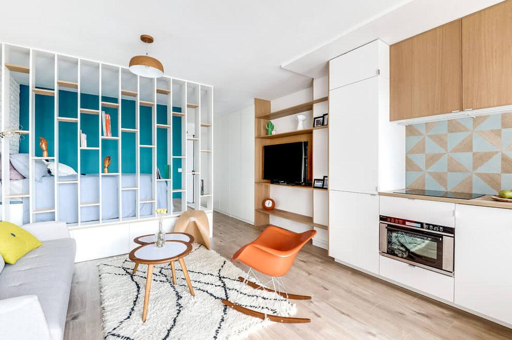 petit appartement apr s travaux offre un cadre moderne et agr able vivons maison. Black Bedroom Furniture Sets. Home Design Ideas