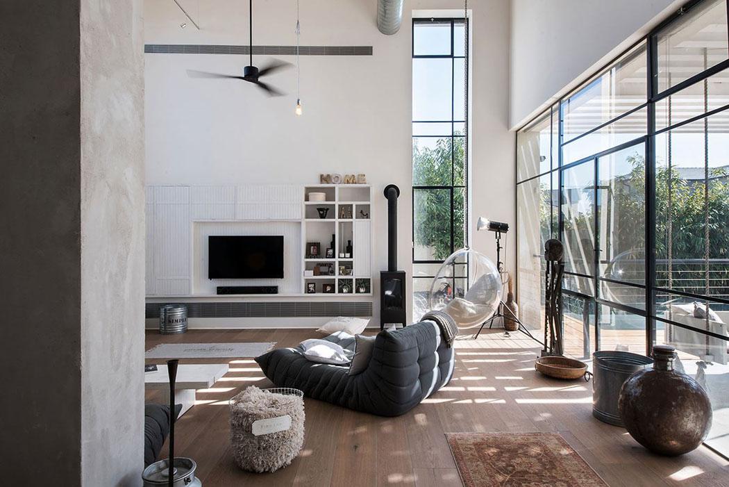 belle maison contemporaine au design minimaliste industriel en isra l vivons maison. Black Bedroom Furniture Sets. Home Design Ideas