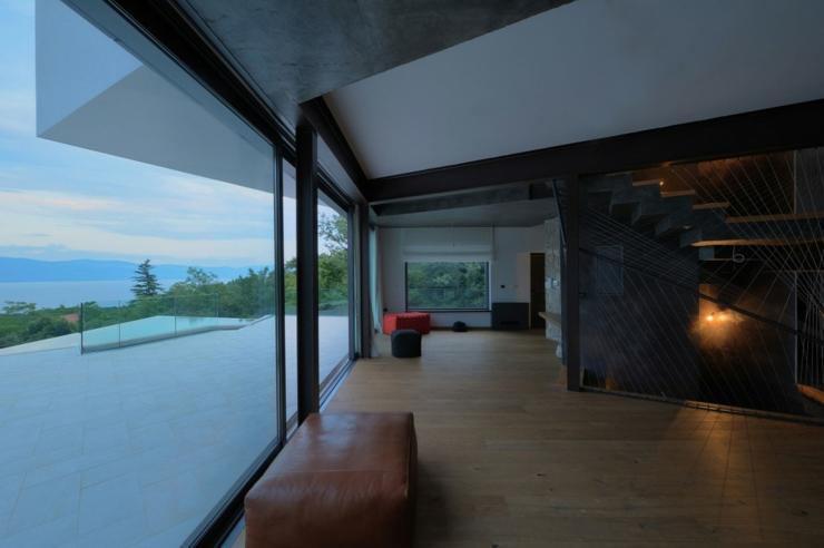 Maison originale l architecture d cal e en croatie - Maison secondaire cotiere avec vue katch ...