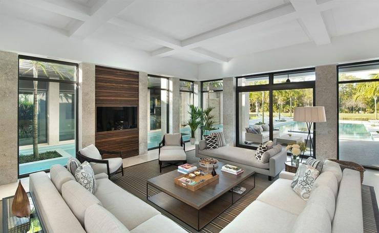 Prestigieuse maison de vacances en floride vivons maison for Salon moderne deluxe