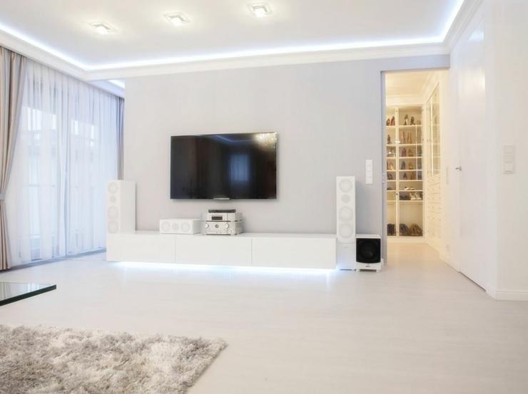 Sejour Blanc Appartement Design Meuble Chambre Rangement