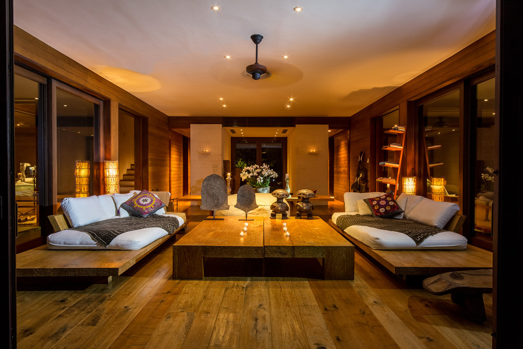 Splendide maison de vacances de donna karan sur les les for Photo d interieur de maison