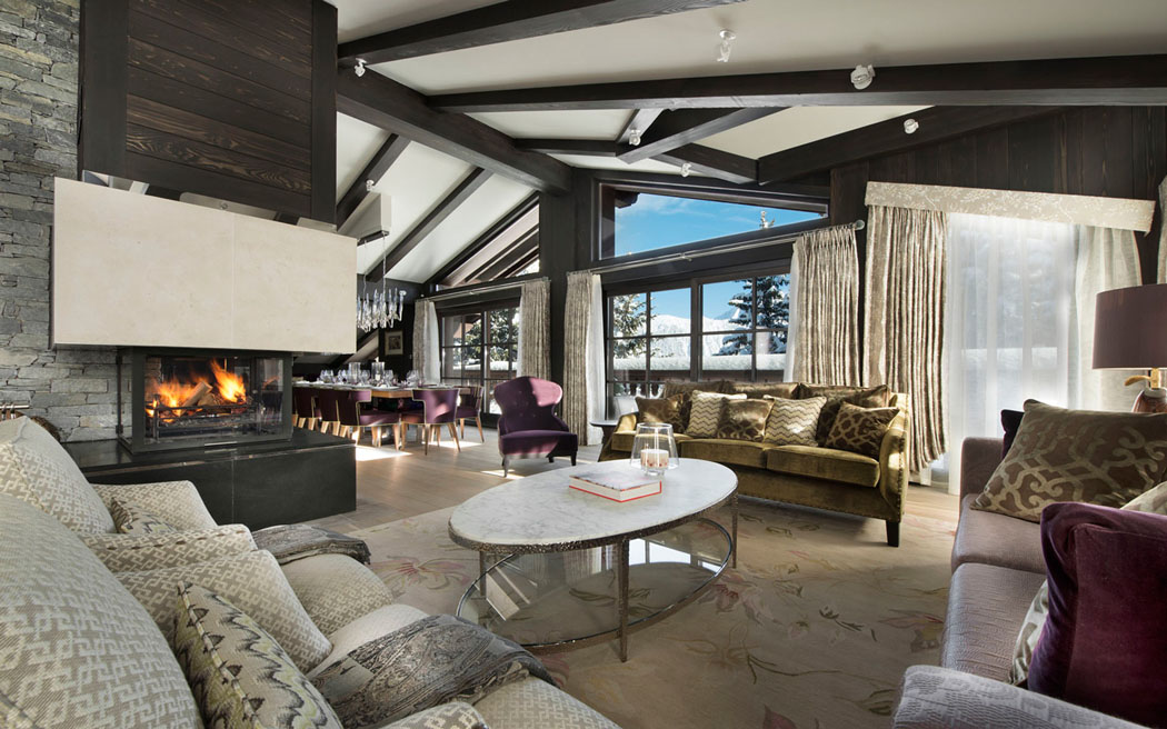Chalet le ski le coquelicot un endroit luxueux for Appartement design ski