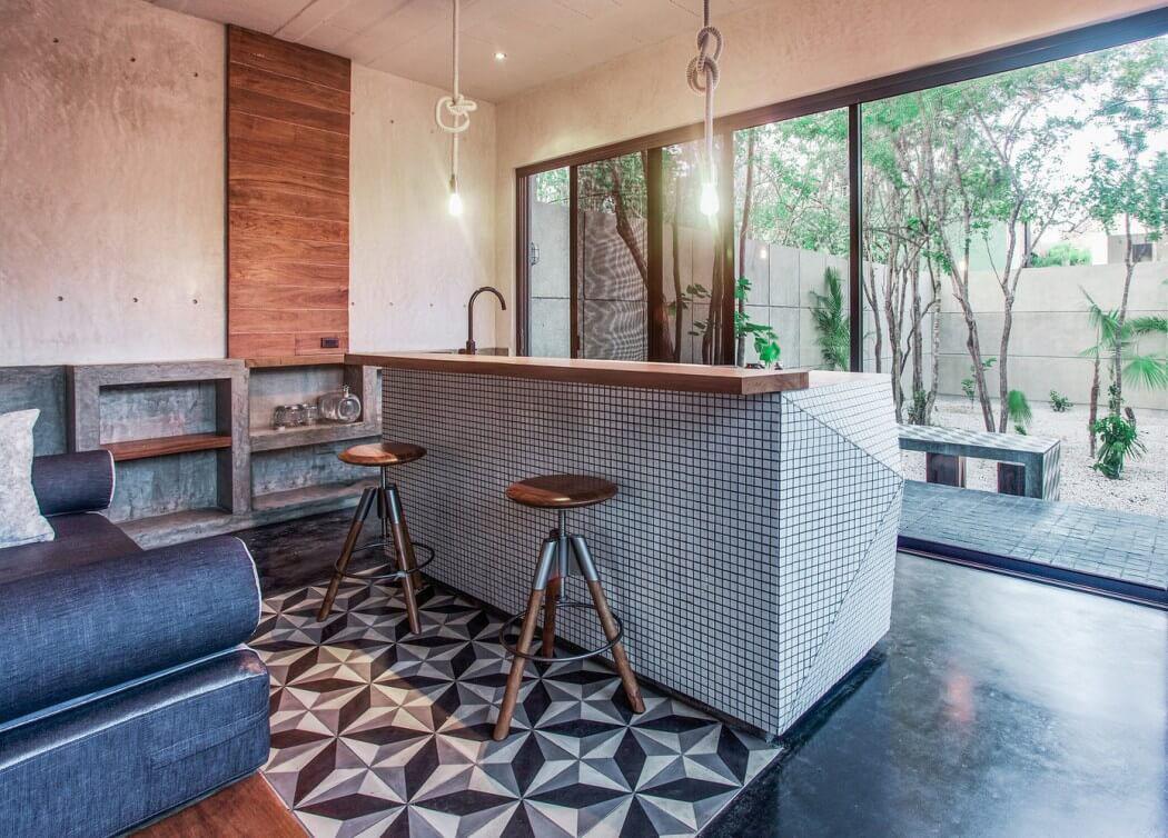 Belle maison de vacances à la déco industrielle à tulum au mexique ...