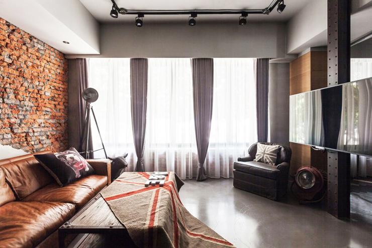 Appartement moderne à Taipei au design industriel et rustique à la ...