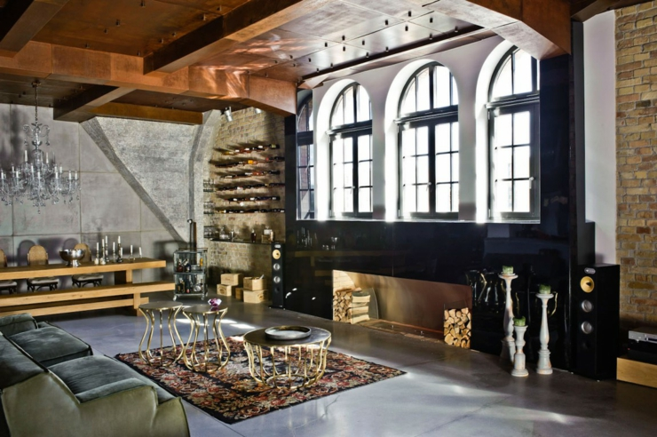 Loft Industriel Au Design Intrieur Bien clectique
