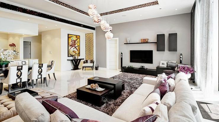 Luxueux appartement avec vue duba vivons maison for Deco salon moderne chic