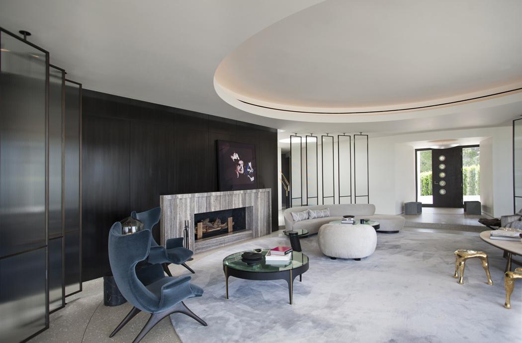 Superbe maison d architecte totalement r nov e beverly for Mobilier sejour design