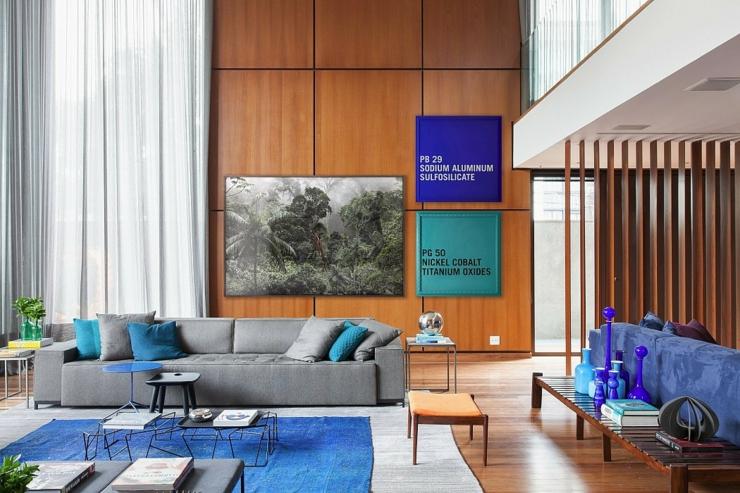 Mur en bois intrieur design. cool s canape decoration exotique bois