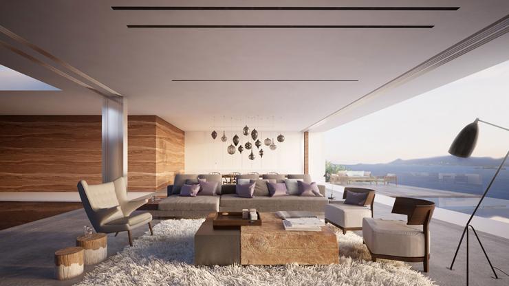 Magnifique maison d architecte mayotte avec une vue for Salle de sejour de luxe