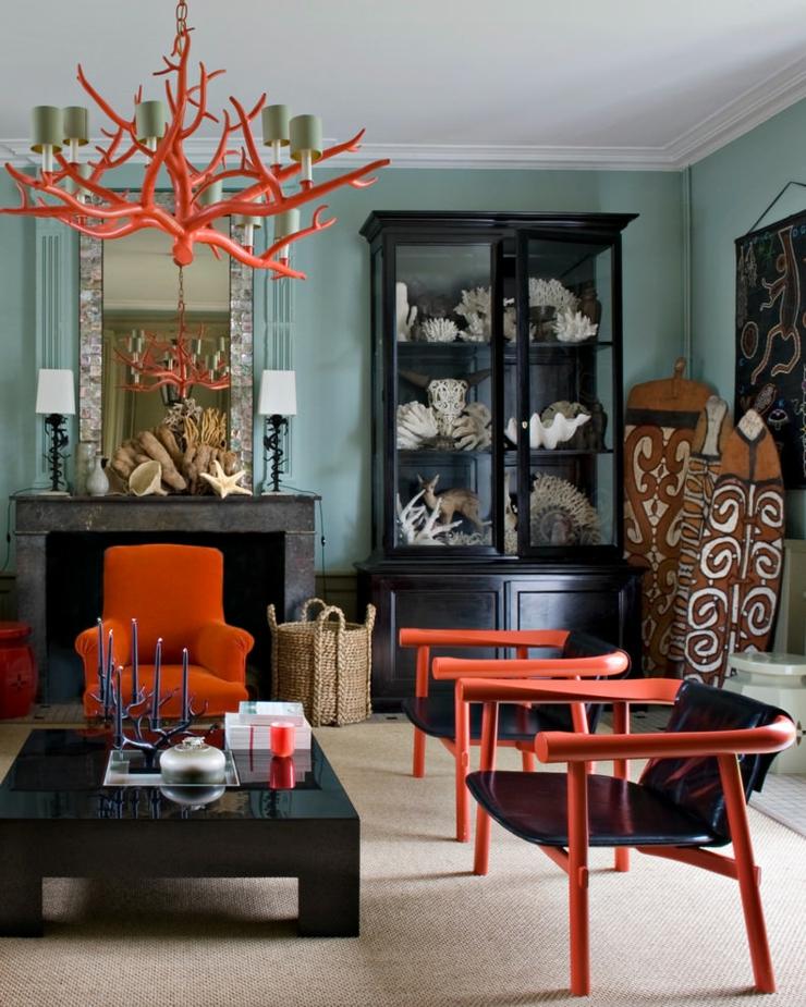 Séjour à la décoration éclectique multicolore intérieur éclectique séjour maison