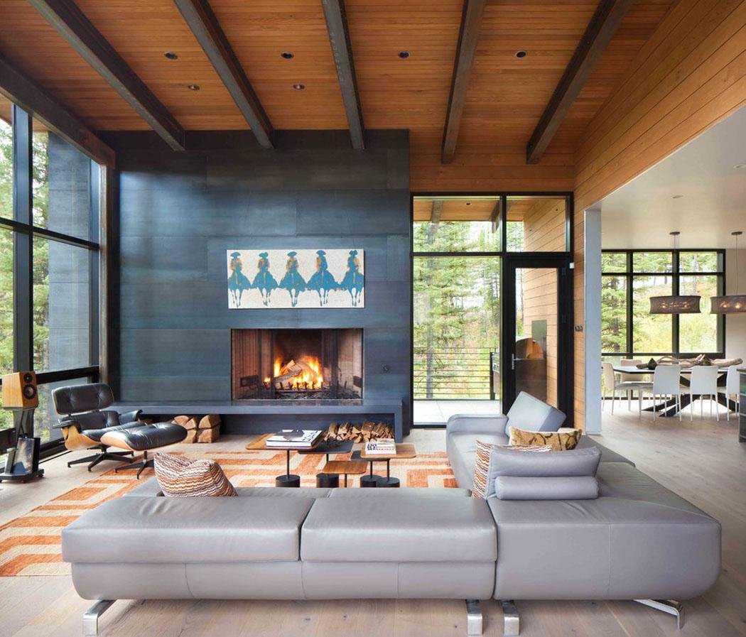 Moderne maison rustique à l\'architecture et agencement créatif au ...
