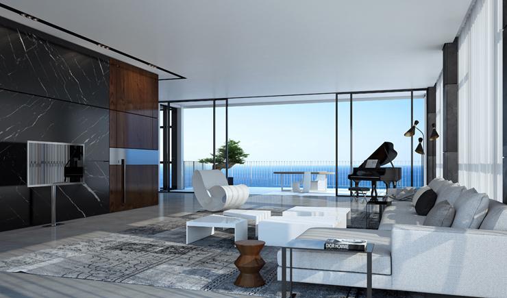 Plan Appartement De Luxe : Appartement de luxe en construction sur la côte