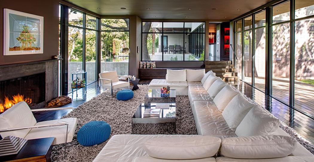 Belle maison r nov e au design moderne et d co contrast e austin texas - Belle maison contemporaine design ...