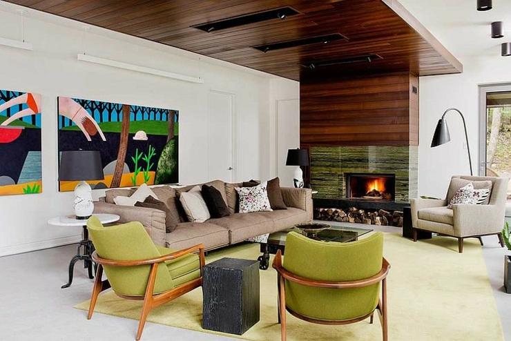 Beau chalet en bois au qu bec vivons maison - Decoration interieur chalet moderne ...