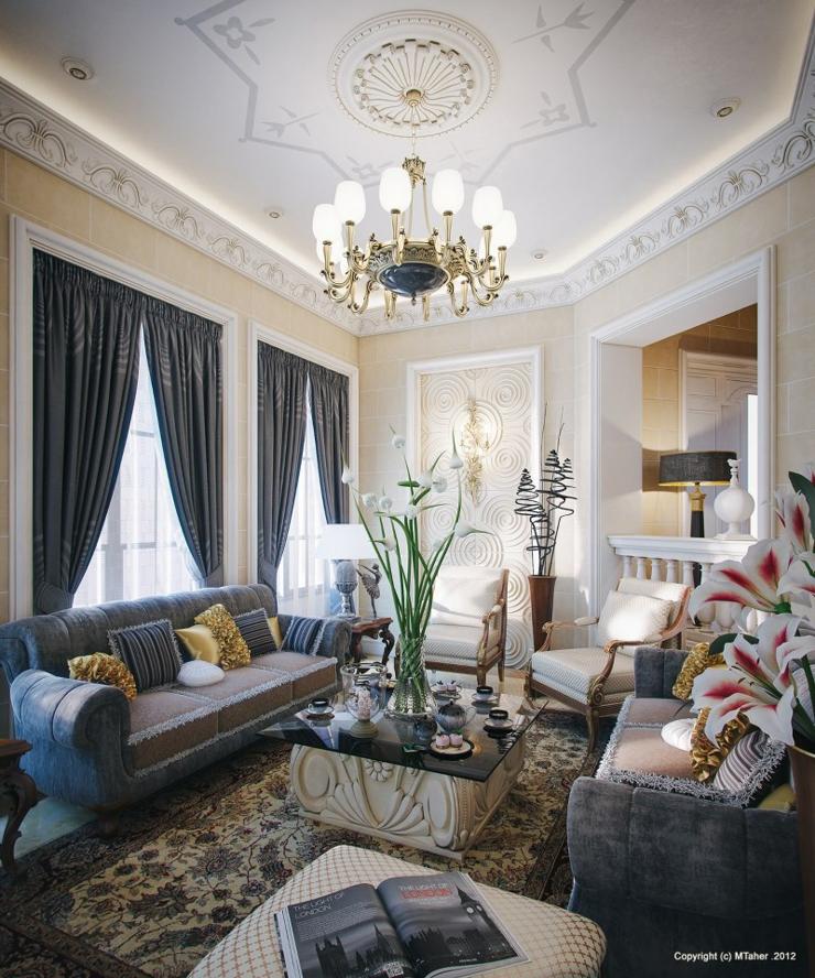 Séjour ambiance luxe orientale