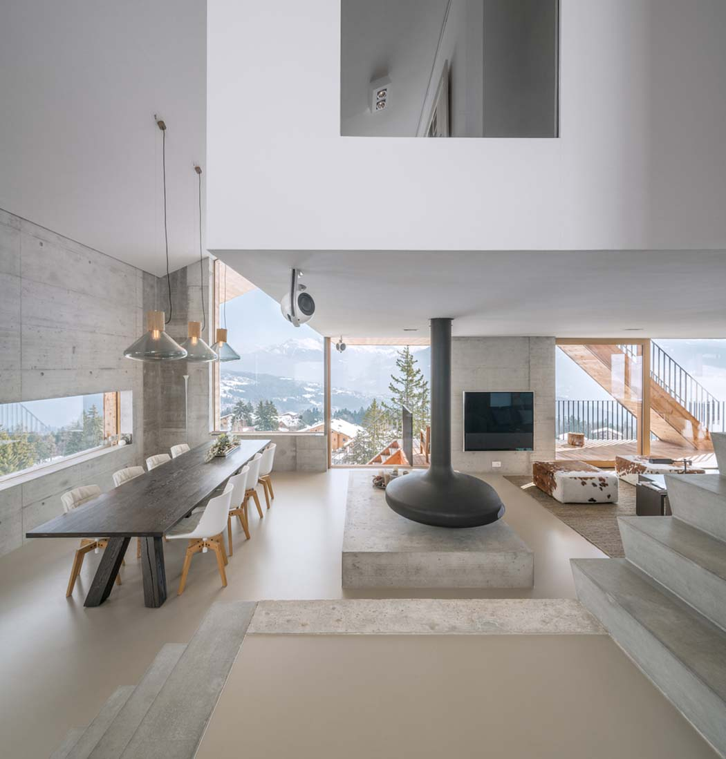 Un minimaliste et éclectique design intérieur pour ce chalet de ...