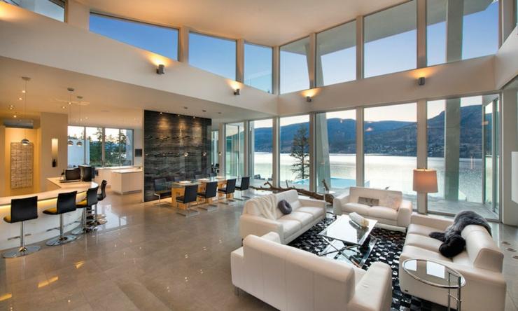 Magnifique r sidence de luxe au bord d un lac au canada - Residence de luxe interieur design montya ...
