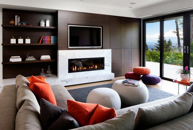 Prestigieuse maison moderne avec vue sur la mer for Idee deco salon contemporain