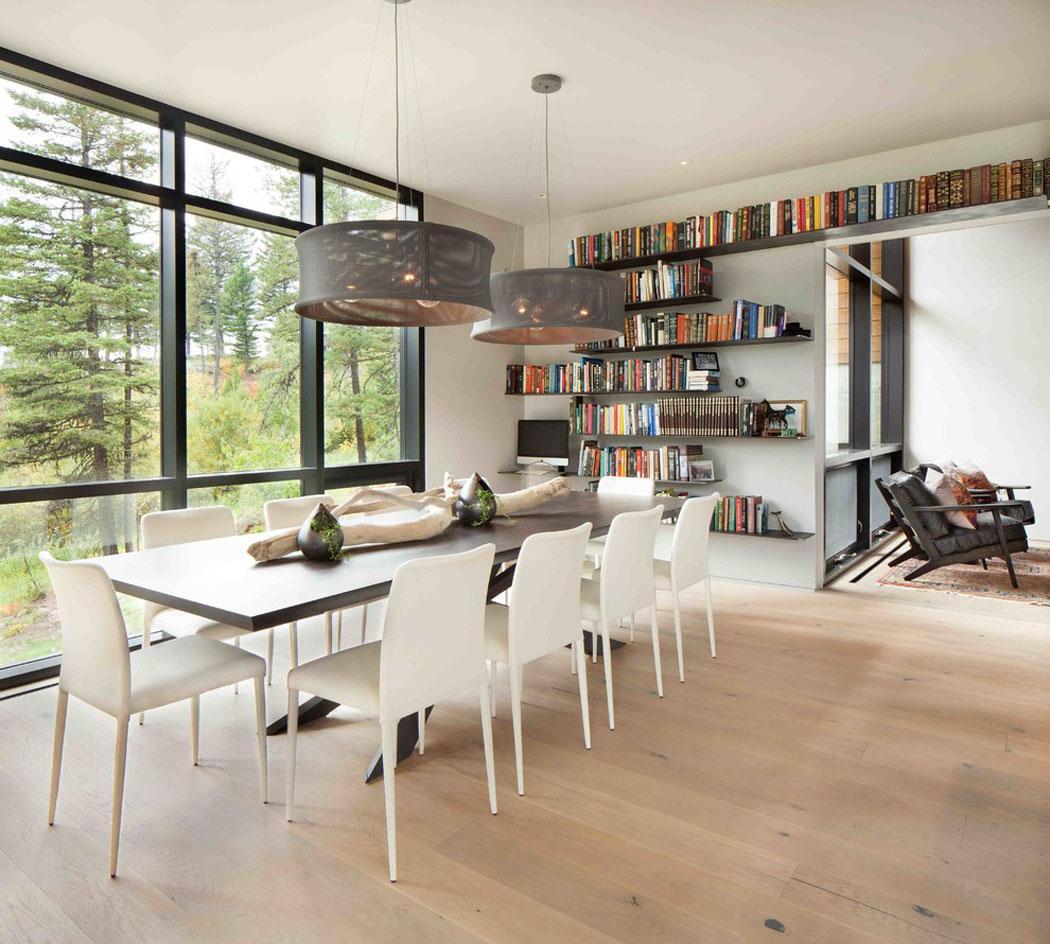 Moderne maison rustique l architecture et agencement - Coin bureau dans salle a manger ...