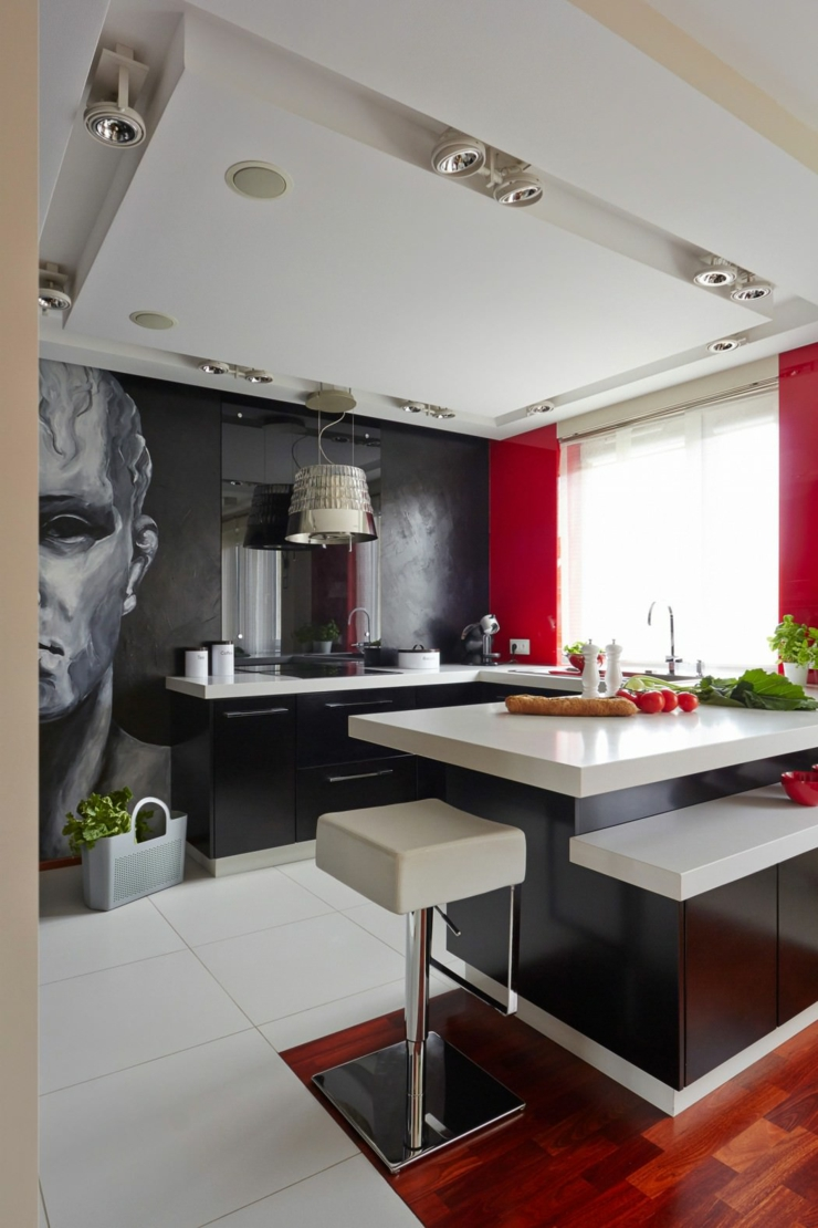 D co maison en rouge pour un appartement moderne vivons for Deco cuisine appartement