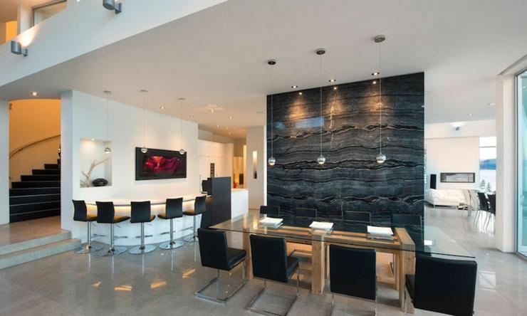 Magnifique r sidence de luxe au bord d un lac au canada for Salle a manger de luxe moderne
