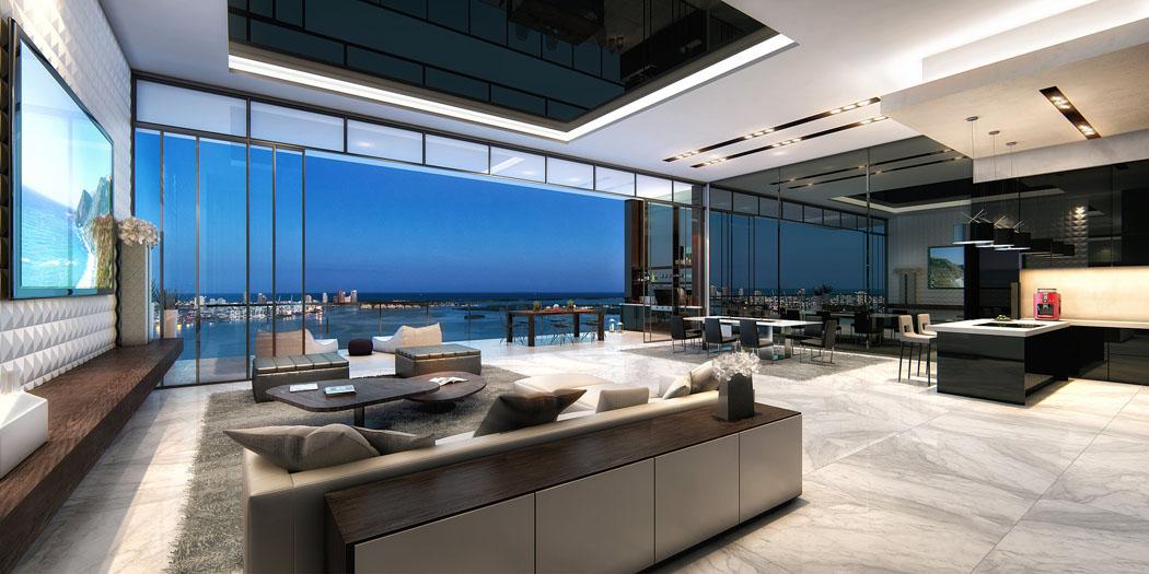 Un penthouse Miami ou le design luxueux et la vue imprenable nous ...