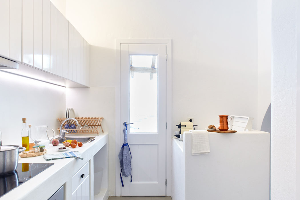 kitchenette studio vue sur mer cyclades