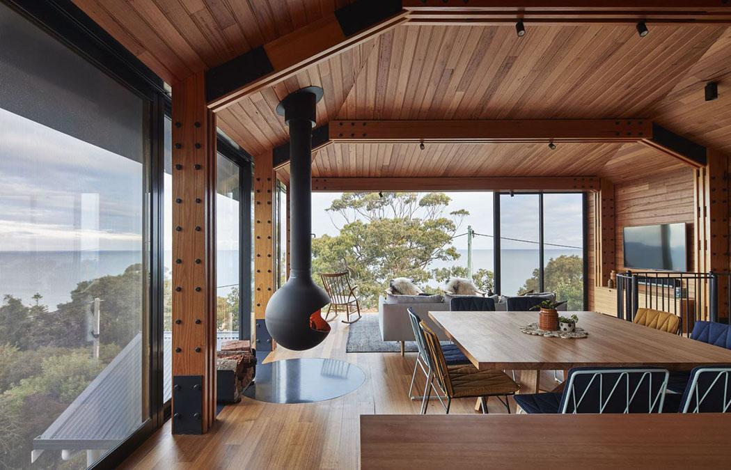 Un agrandissement de maison en bois pour donner un coup de for Agrandissement de maison en bois