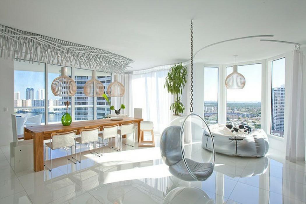appartement moderne intérieur de ville floride